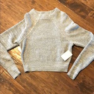Free people woman's grey sweater, NWT size XS.